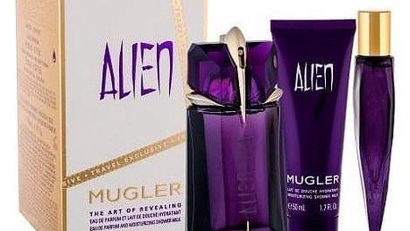 Thierry Mugler Alien dárková kazeta Naplnitelný pro ženy parfémovaná voda 60 ml + parfémovaná voda 10 ml + sprchové mléko 50 ml
