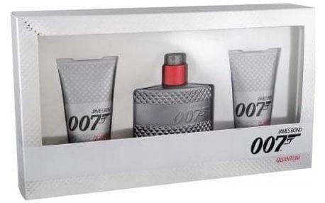 James Bond 007 Quantum dárková kazeta pro muže toaletní voda 50 ml + sprchový gel 2x 50 ml