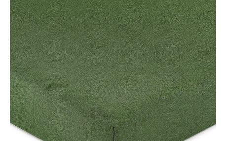 4Home jersey prostěradlo olivově zelená, 90 x 200 cm