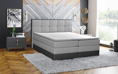 Manželská postel HANIA postel 180 cm vč. roštu, matrace a ÚP