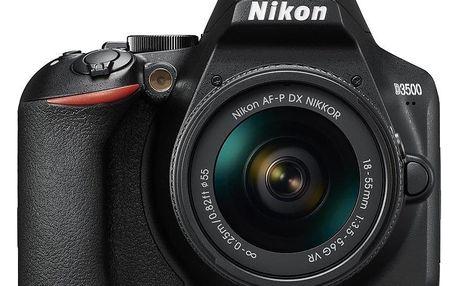 Digitální fotoaparát Nikon D3500 + 18-55 AF-P VR černý (VBA550K001)
