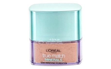 L´Oréal Paris True Match Minerals Skin-Improving 10 g pudrový makeup pro ženy 4.D/4.W Golden Natural