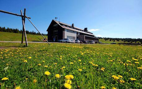 Letní dovolená pro páry na Dvorské boudě jen 7 km od Sněžky. Sauna v ceně!