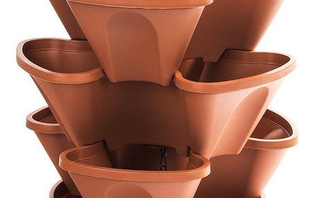 kaskáda závěsná 3 dílná pr.35cm mix barev, teracota