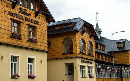 Depandance Hotelu Bauer s polopenzí a vstupem do dětského parku