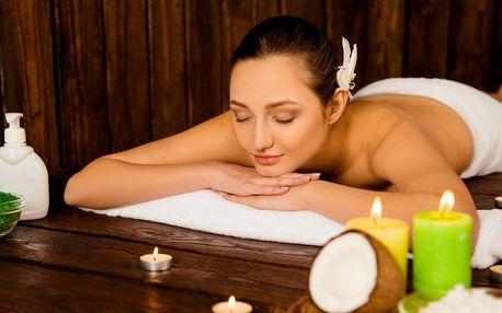 60minutové masážní rituály: kokosový či chladivý