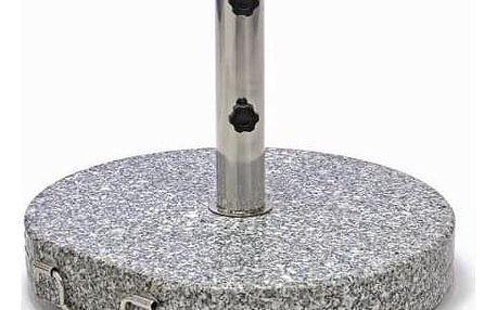 Garthen 1507 Stojan na slunečník (kruhový) - žula / nerezová ocel, 40 kg