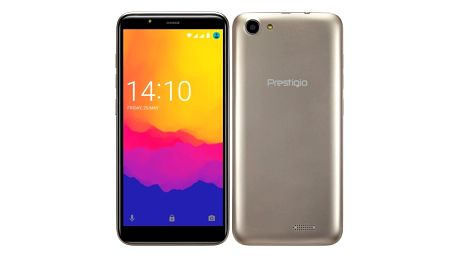Mobilní telefon Prestigio Muze F5 zlatý (PSP5553DUOGOLD)