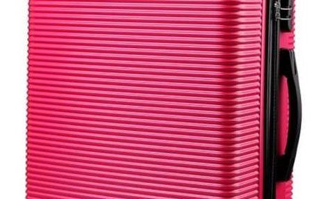 Dámský růžový kabinový kufr Travel 6676
