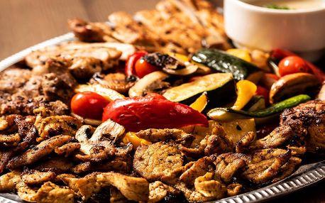 Vepřový talíř: 1 kg masa ze 4 druhů, příloha a omáčka