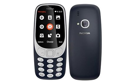 Mobilní telefon Nokia 3310 (2017) Dual SIM modrý (A00028108)