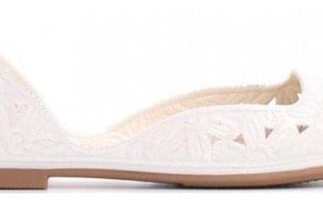 Dámské bílé baleríny Jani 7297