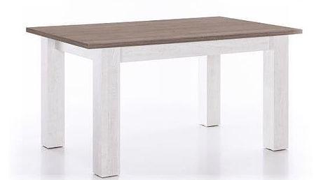 Jídelní stůl SULTAN bílá/dub