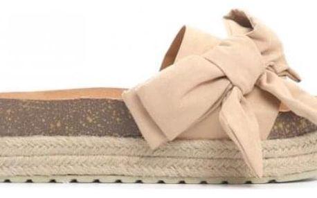 Dámské béžové pantofle Marika 6275