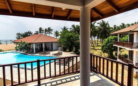 Pohodová dovolená v plážovém resortu na Srí Lance
