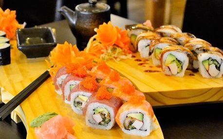 Set se 14–40 ks sushi vč. speciálních rolek