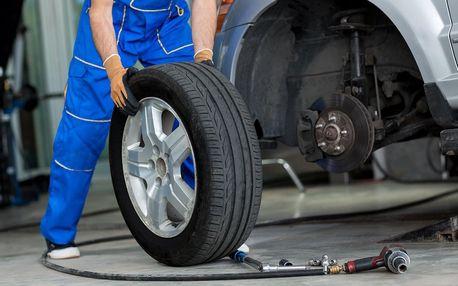 Přezutí kol nebo pneu na alu i ocelových discích