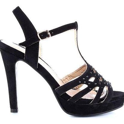 MODERN WORLD Černé sandálky MD7091-1B Velikost: 38 (24 cm)