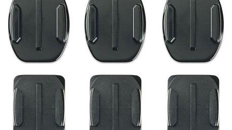 Sada držáků GoPro Curved + Flat Adhesive Mounts černý (AACFT-001)
