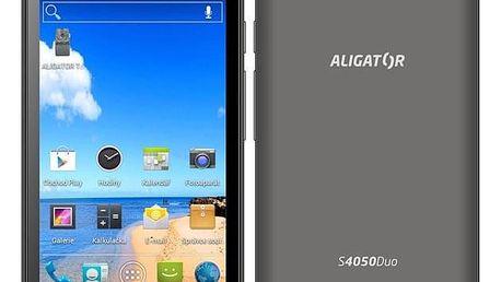 Mobilní telefon Aligator S4050 Duo šedý