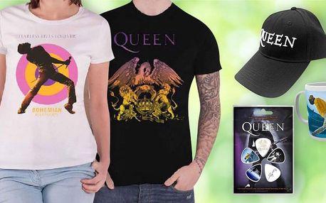 Plakáty, hrnky i trička s motivy kapely Queen