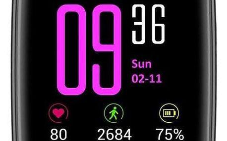 Chytré hodinky IMMAX SW9 černé/zelené (09013)