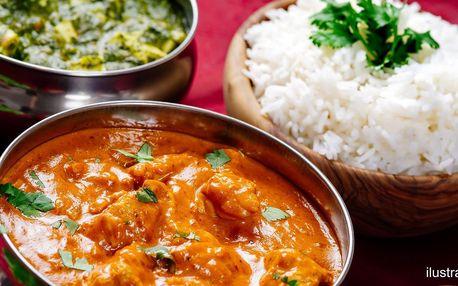 3chodové indické menu pro 2 osoby