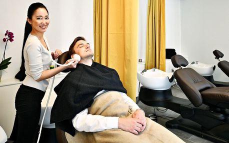 Japonská masáž hlavy i s bylinnými razítky