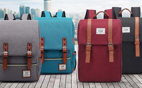 Trendy retro batoh v 6 barvách se 2 nebo 5 kapsami