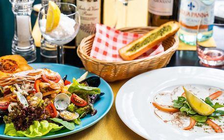 3chodové středomořské menu s krevetami a slávkami
