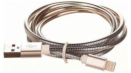 CellFish USB/Lightning, 1m stříbrný (CELLKOVSILVERAPP)