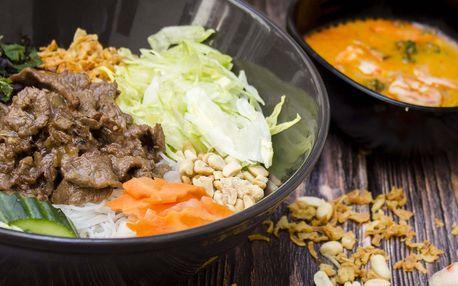 Vietnamské menu: předkrm a hlavní jídlo