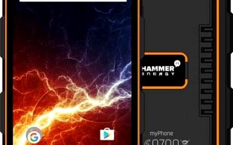 Odolný telefon myPhone Hammer ENERGY 2GB/16GB, černá/oranžová + Antivir ESET