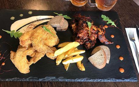 1 kg křídel, 2 piva, americké brambory i chleba