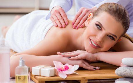 60minutová rehabilitační masáž zad a šíje