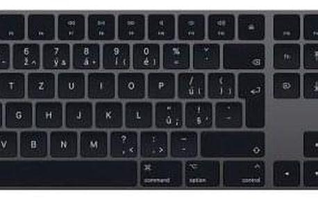 Apple Magic s numerickou klávesnicí - Czech šedá (mrmh2cz/a)