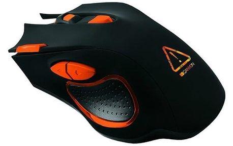 Myš Canyon Corax černá/oranžová (/ optická / 7 tlačítek / 6400dpi) (CND-SGM5N)