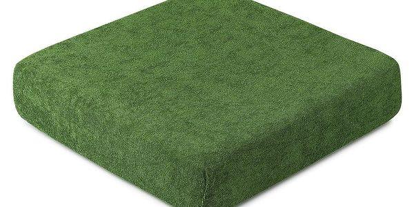 4Home froté prostěradlo olivově zelená, 160 x 200 cm2