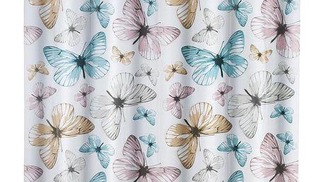 Sprchový závěs Butterfly, PEVA, 180x200 cm, WENKO