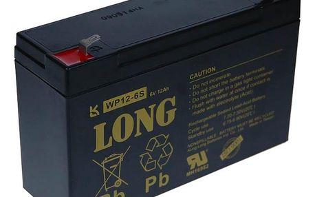 Baterie Avacom Long 6V 12Ah olověný akumulátor F1