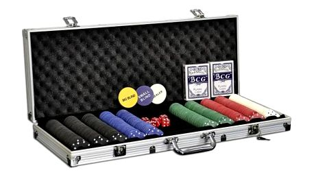 Garthen 500 Poker set 500 ks žetonů s příslušenstvím