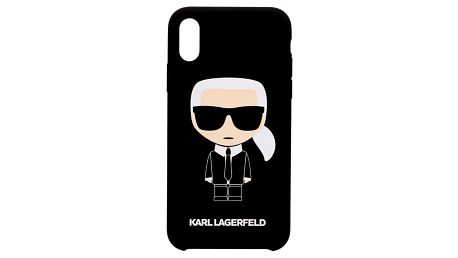Karl Lagerfeld Full Body Iconic pro Apple iPhone X/Xs černý (KLHCPXSLFKBK)