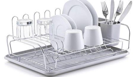 Sušák na nádobí, odkapávač,chromovaná ocel, ZELLER