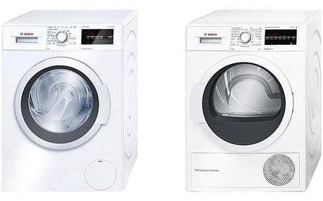 Set Bosch - pračka WAT24360BY + sušička WTW87467CS