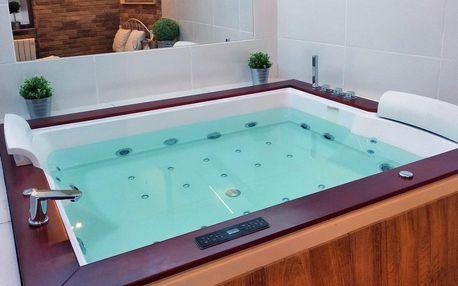 2 hodiny v privátním wellness s vířivkou i saunou