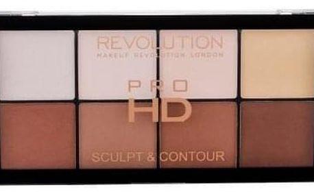 Makeup Revolution London Pro HD Sculpt & Contour 15 g konturovací paletka pro ženy