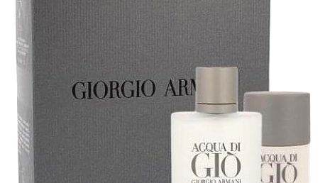Giorgio Armani Acqua di Gio Pour Homme dárková kazeta pro muže toaletní voda 100 ml + deostick 75 ml