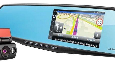 Autokamera LAMAX Drive S5 Navi+ se zpětným zrcátkem černá