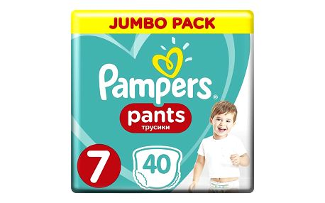 PAMPERS Active Pants 7 (17+ kg) 40 ks Jumbo Pack – plenkové kalhotky