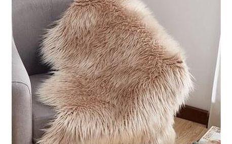 Tempo Kondela Umělá kožešina béžová, 60 x 90 cm